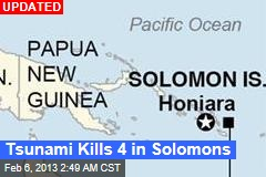 8.0 Quake Strikes Off Solomon Islands