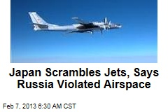Japan Scrambles Jets, Says Russia Violated Airspace