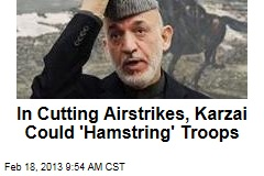 In Cutting Airstrikes, Karzai Could &amp;#39;Hamstring&amp;#39; Troops