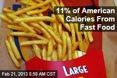 11% of American Calories From Fast Food