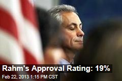 Rahm&amp;#39;s Approval Rating: 19%