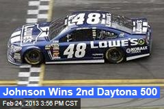 Johnson Wins 2nd Daytona 500; Patrick Is 8th