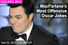 MacFarlane&amp;#39;s Most Offensive Oscar Jokes