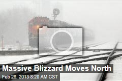 Massive Blizzard Moves North