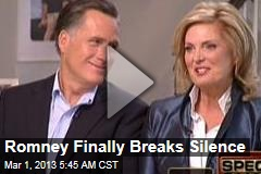 Romney Breaks Silence on &amp;#39;Roller Coaster&amp;#39; Election