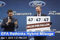 EPA Rethinks Hybrid Mileage