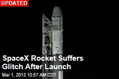 SpaceX Rocket Launches, Carrying Ton of Supplies
