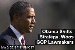 Obama Shifts Strategy, Woos GOP Lawmakers