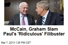 McCain, Graham Slam Paul's 'Ridiculous' Filibuster