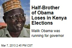 Half-Brother of Obama Loses in Kenya Elections