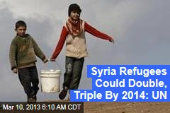 Syria Refugees Could Double, Triple By 2014: UN