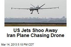 US Jets Shoo Away Iran Plane Chasing Drone
