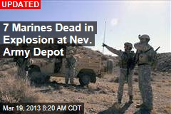 Several Dead After Explosion at Nev. Army Depot