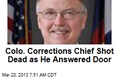 On Eve of New Gun Regs, Colo. Corrections Chief Shot Dead
