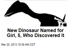 New Dinosaur Named for Girl, 5, Who Discovered It