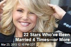 22 Stars Who've Been Married 4 Times—or More