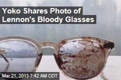 Yoko Shares Photo of Lennon's Bloody Glasses