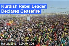 Kurdish Rebel Leader Declares Ceasefire