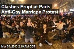 Clashes Erupt at Paris Anti-Gay Marriage Protest