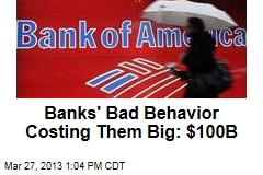 Banks&amp;#39; Bad Behavior Costing Them Big: $100B