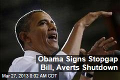 Obama Signs Stopgap Bill, Averts Shutdown