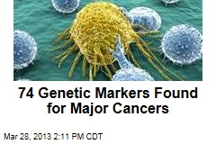 74 Genetic Markers Found for Major Cancers