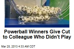 Powerball Winners Give Cut to Colleague Who Didn't Play