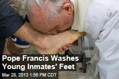 Pope Francis Washes Young Inmates' Feet