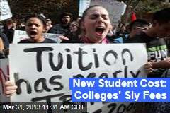 New Student Cost: Colleges' Sly Fees