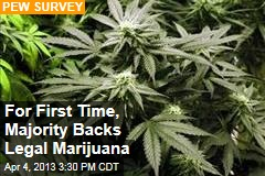 For First Time, Majority Backs Legal Marijuana