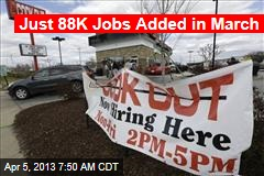 Just 88K Jobs Added in March