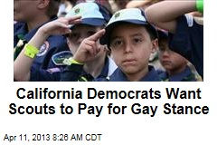 California Democrats Want Scouts to Pay for Gay Stance