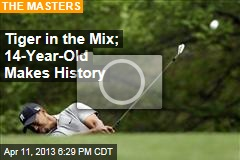 Tiger in the Mix; 14-Year-Old Makes History