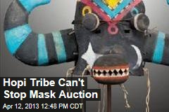 Hopi Tribe Can&amp;#39;t Stop Mask Auction