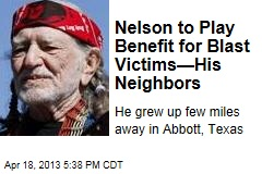 Nelson to Play Benefit for Blast Victims—His Neighbors