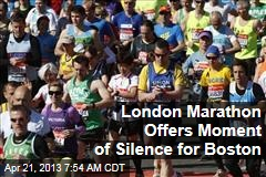 London Marathon Offers Moment of Silence for Boston
