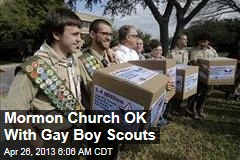 Mormon Church OK With Gay Boy Scouts
