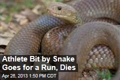 Athlete Bit by Snake Goes for a Run, Dies