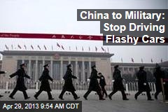 China to Military: Stop Driving Flashy Cars