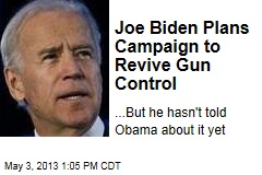 Joe Biden Plans Campaign to Revive Gun Control