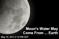 Moon's Water May Come From ... Earth