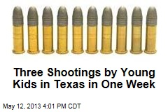 Three Shootings by Young Kids in Texas in One Week
