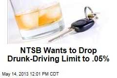 NTSB Wants to Drop Drunk-Driving Limit to .05%