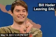 Bill Hader Leaving SNL