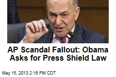 AP Scandal Fallout: Obama Asks for Press Shield Law