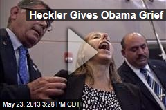 Heckler Gives Obama Grief