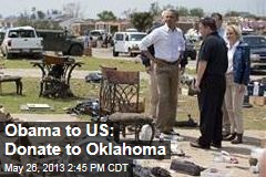 Obama Offers Moral and Monetary Support in Okla.