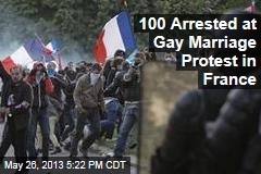 100 Arrested at Gay Marriage Protest in France