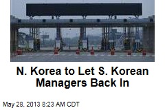 N. Korea to Let S. Korean Managers Back In