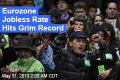 Eurozone Jobless Rate at Record 12.2%